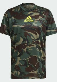 adidas Performance - CAMOUFLAGE GT1 DESIGNED2MOVE PRIMEGREEN WORKOUT GRAPHIC T-SHIRT - T-shirt med print - green - 7