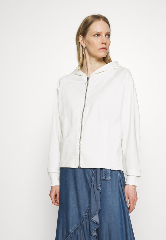 veste en sweat zippée - scandinavian white
