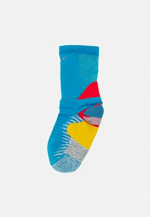 TRAIL RUNNING CREW UNISEX - Calze sportive - laser blue/chile red/limelight
