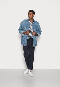 Weekday - MARD TROUSERS - Trousers - blue melange - 1