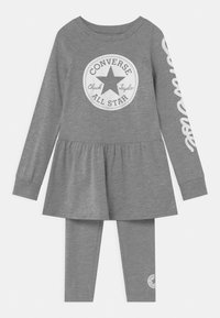 Converse - SCRIPT LOGO SET - Leggings - Trousers - dark grey heather - 0
