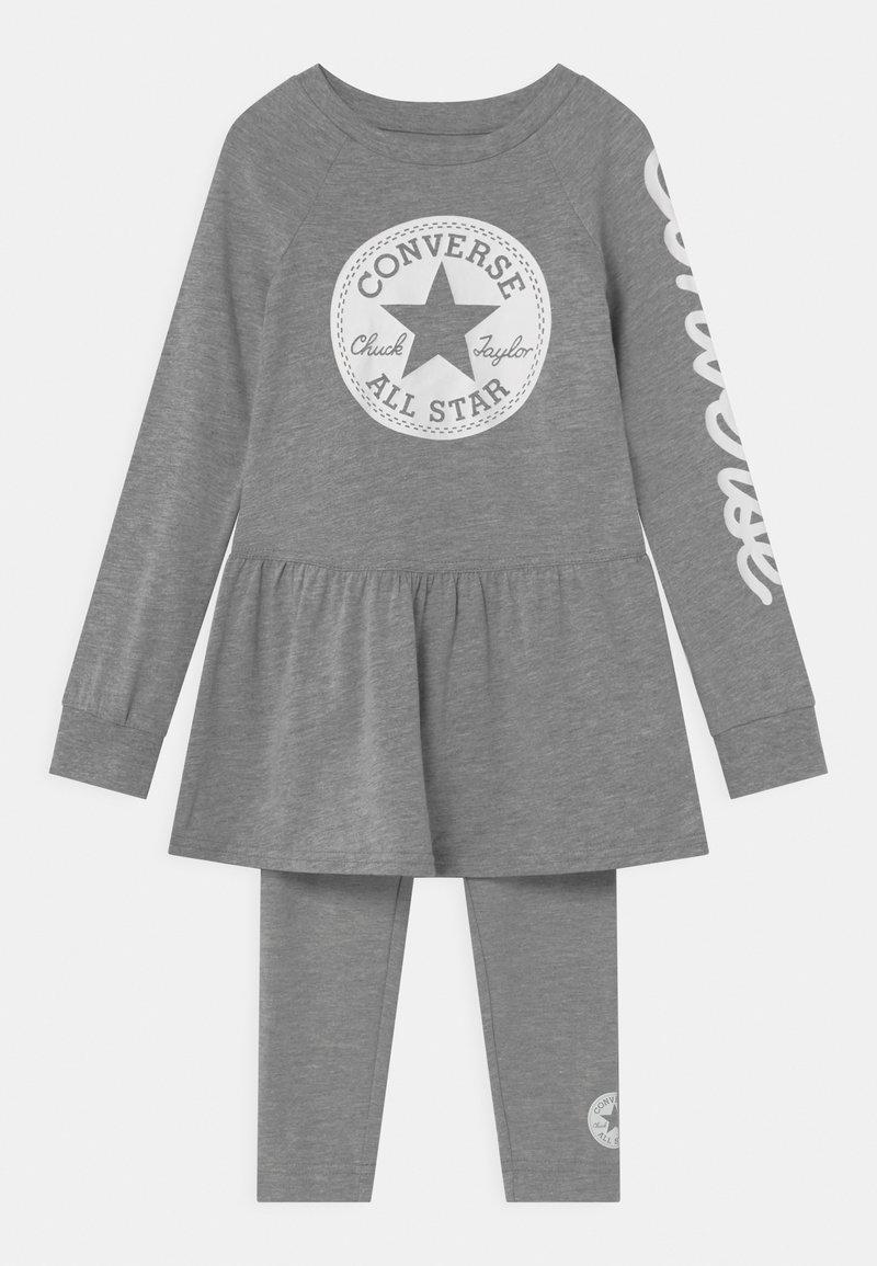 Converse - SCRIPT LOGO SET - Leggings - Trousers - dark grey heather