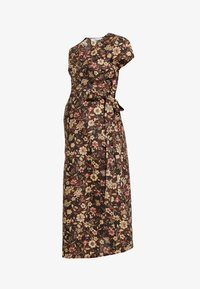 Glamorous Bloom - SHORT SLEEVE TRUE WRAP DRESS - Robe d'été - brown - 4