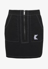 Karl Kani - SKIRT - A-line skirt - black/white - 3