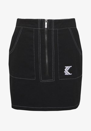 SKIRT - Falda acampanada - black/white