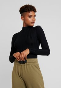 Missguided - EXTREME HIGH NECK - Long sleeved top - black - 0