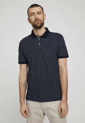 Polo - navy blue wave design