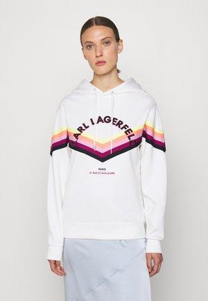 HOODIE STRIPE TAPE - Sweatshirt - white