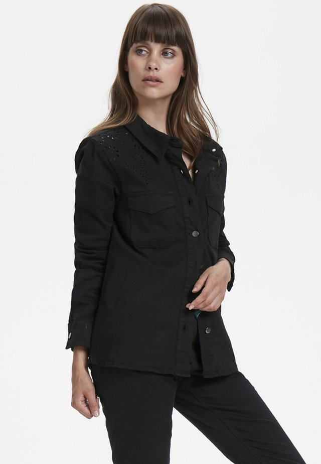 CARACR - Button-down blouse - pitch black