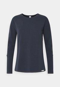 DAMEN LANGARM HOME HUB - Pyjama top - space blue