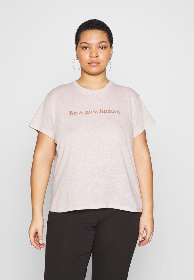 FRIENDS GRAPHIC TEE - T-Shirt print - grey marle