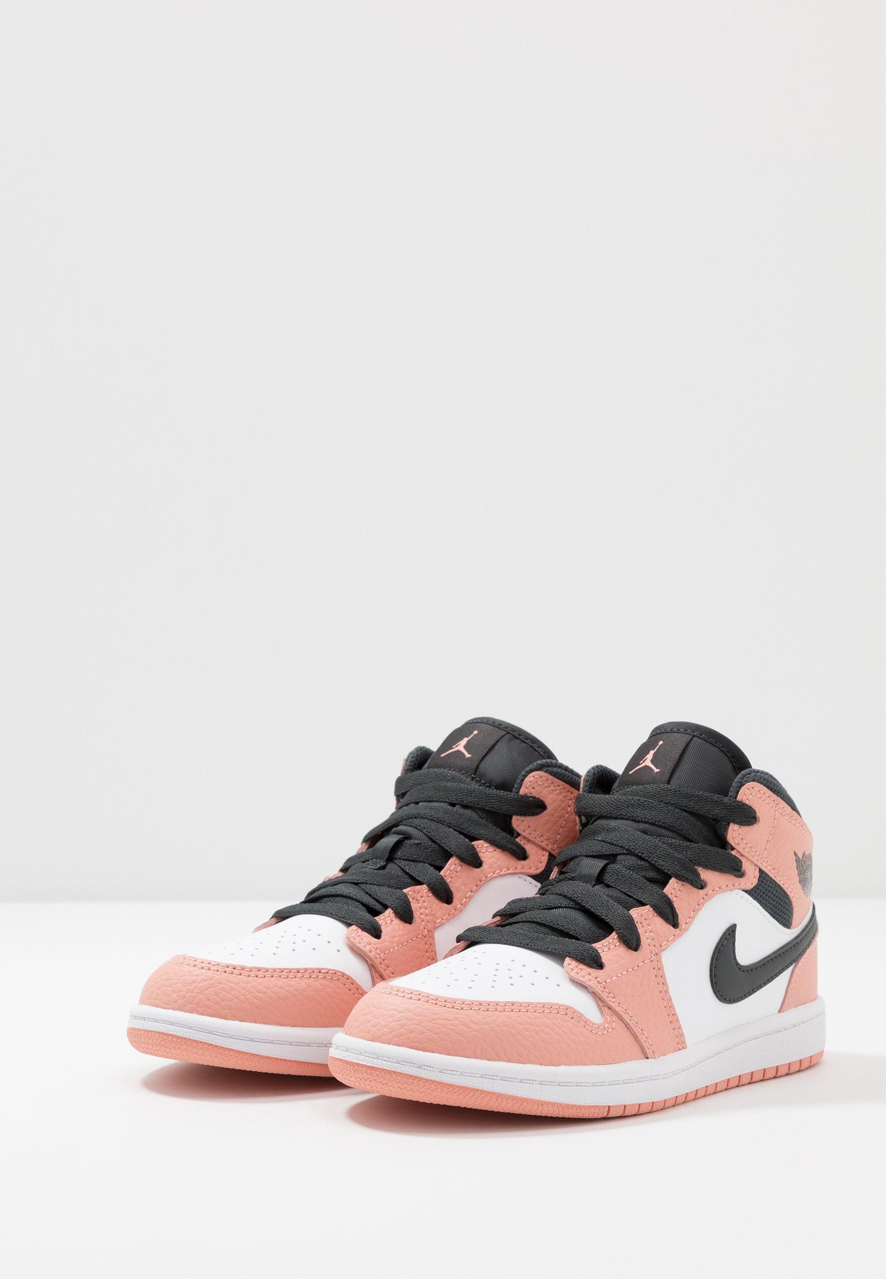 Jordan 1 MID - Chaussures de basket - pink quartz/dark smoke grey ...
