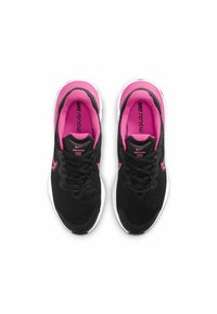 Nike Performance - RENEW RUN 2 GS - Neutral running shoes - black dark smoke grey smoke grey hyper pink - 3
