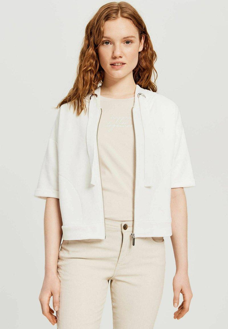 Opus - GIZZINE - Zip-up sweatshirt - offwhite