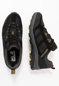 Jack Wolfskin - VOJO 3 TEXAPORE LOW - Hiking shoes - black/burly yellow - 1