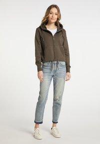 DreiMaster - Zip-up sweatshirt - militäroliv - 1