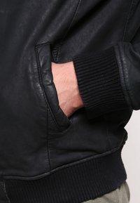 Goosecraft - Kožená bunda - black - 4