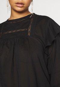 Cotton On Curve - SMOCK BLOUSE - Blouse - black - 5