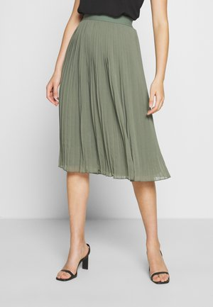 PLEATED SKIRT - A-linjekjol - khaki green