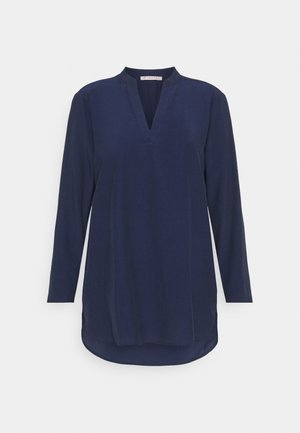 Basic V neck Blouse - Blouse - dark blue