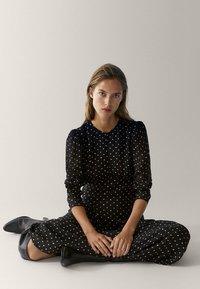 Massimo Dutti - MIT TUPFEN  - Maxi dress - black - 3