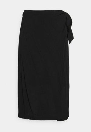 SLFKINORA MIDI WRAP SKIRT - Wrap skirt - black