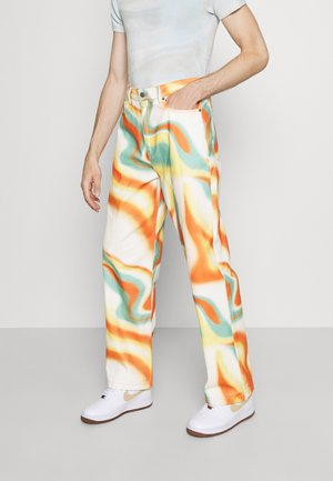 ORANGE ABSTRACT WAVE SKATE JEANS - Relaxed fit jeans - blue