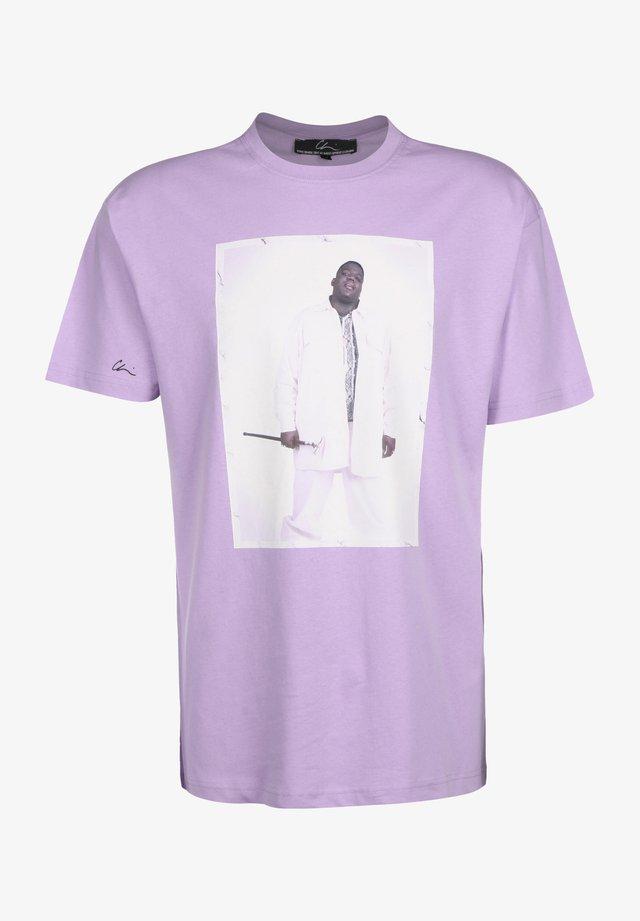 T-shirt print - pastell pink/print white