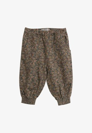 Trousers - green flowers