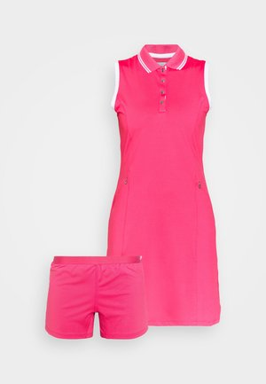GOLF DRESS WITH TIPPING - Sports dress - raspberry sorbet