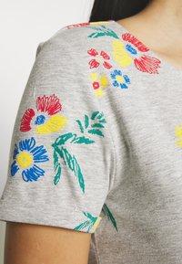 Anna Field - T-shirts med print - mottled grey - 4