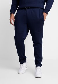 Urban Classics - CUT AND SEW PLUS SIZE - Tracksuit bottoms - midnightnavy - 0