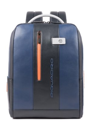 URBAN BUSINESSRUCKSACK LEDER 41 CM LAPTOPFACH - Zaino - blue-grey