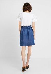 s.Oliver - A-line skirt - blue denim - 2