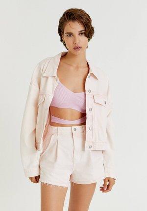 Denim jacket - pink