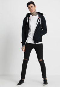 Superdry - LABEL ZIPHOOD - Mikina na zip - eclipse navy - 1
