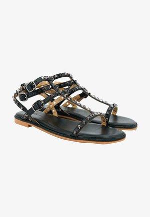 AVEIRO - Ankle cuff sandals - black