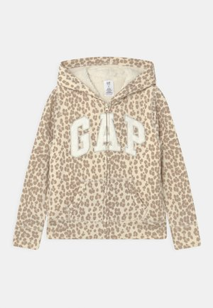 GIRL LOGO COZY - Zip-up sweatshirt - off-white