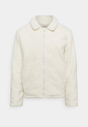 SIMPLE BORG JACKET - Fleece jacket - off-white