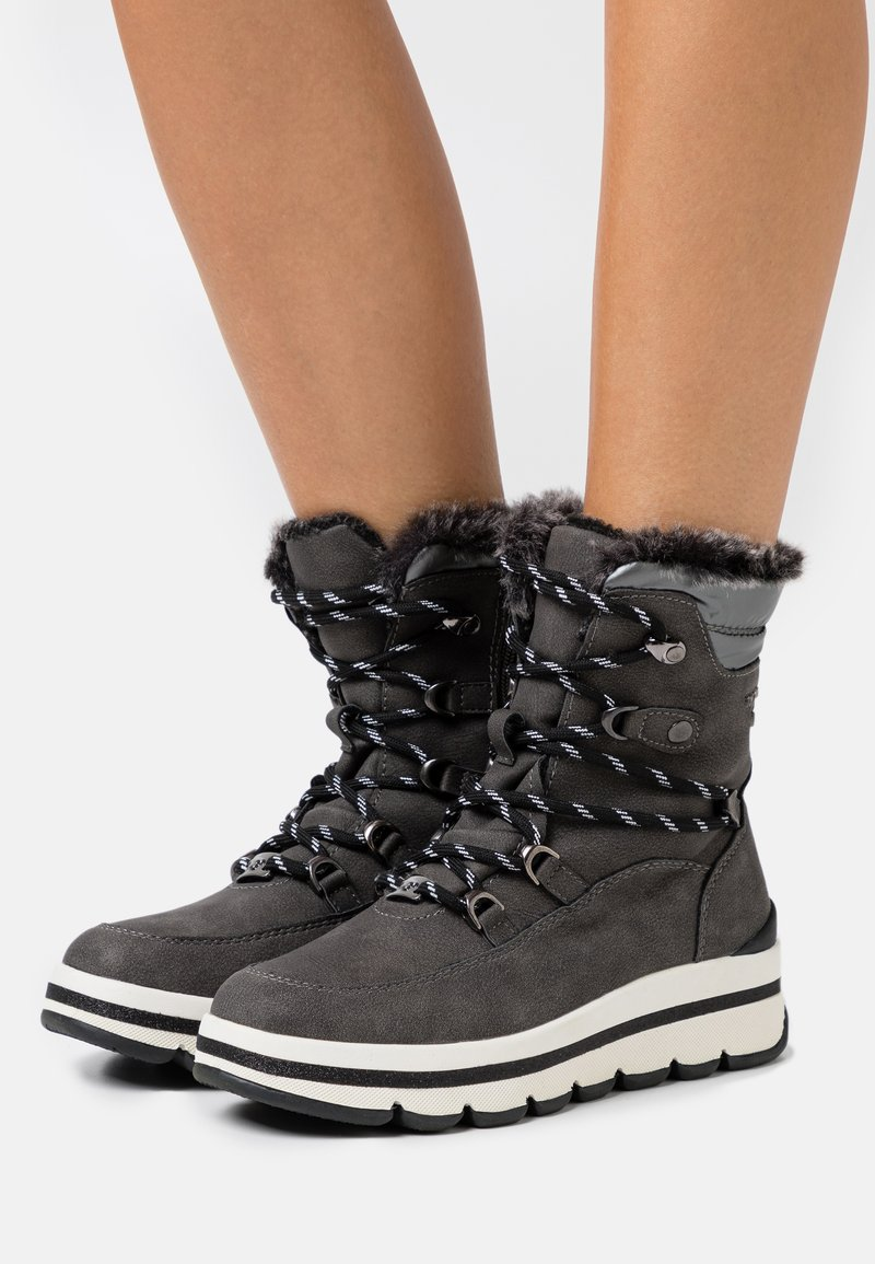 TOM TAILOR - Winter boots - coal