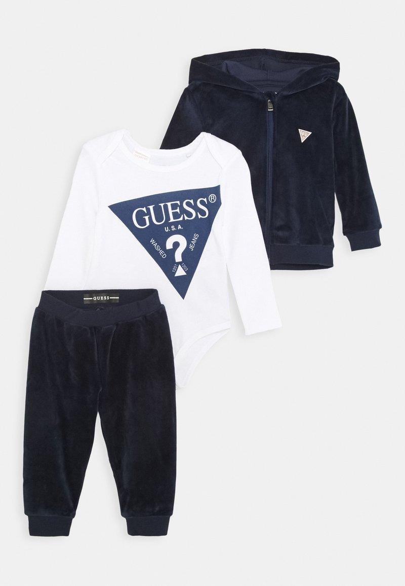 Guess - BABY SET UNISEX - Tepláková souprava - bleu/deck blue