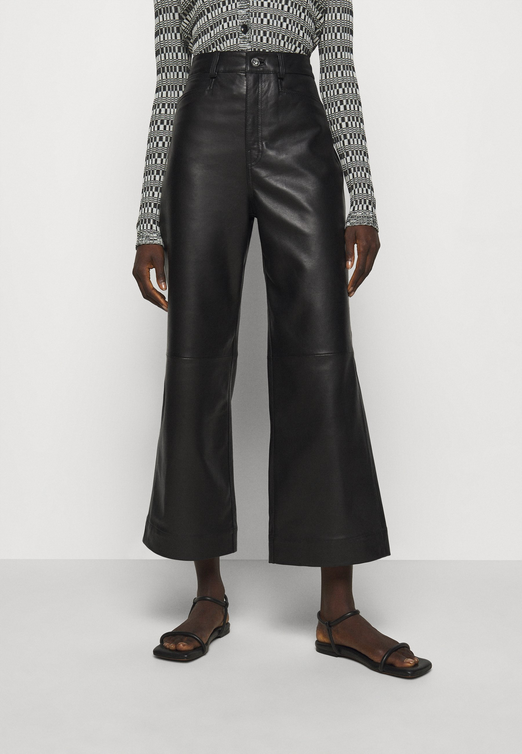 Women LIGHTWEIGHT CULOTTES - Leather trousers