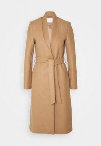 DOUBLE COLLAR COAT - Klasický kabát - camel