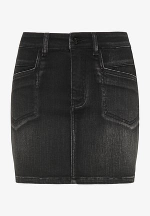 Denim skirt - schwarz