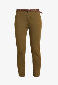 Scotch & Soda - WITH GIVEAWAY BELT - Chinos - military green - 3