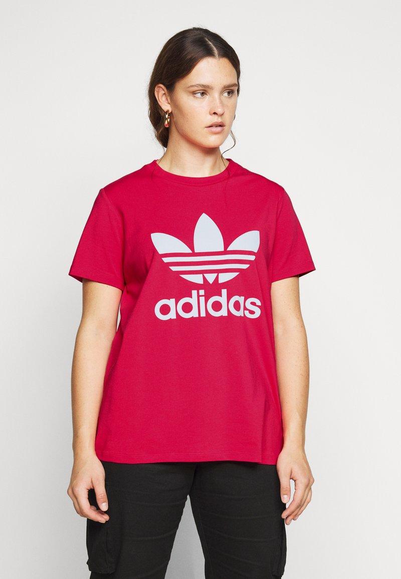 adidas Originals - TREFOIL TEE - T-shirts print - power pink/white