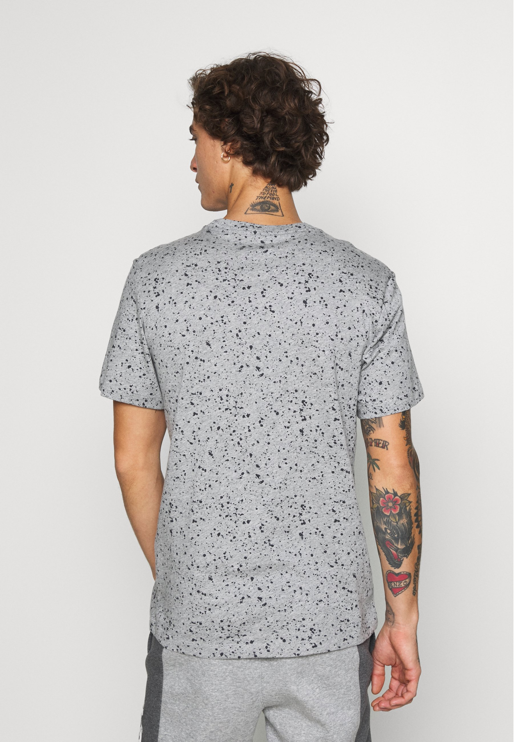 Nike Sportswear PRINT PACK - Print T-shirt - grey heather UIXPi