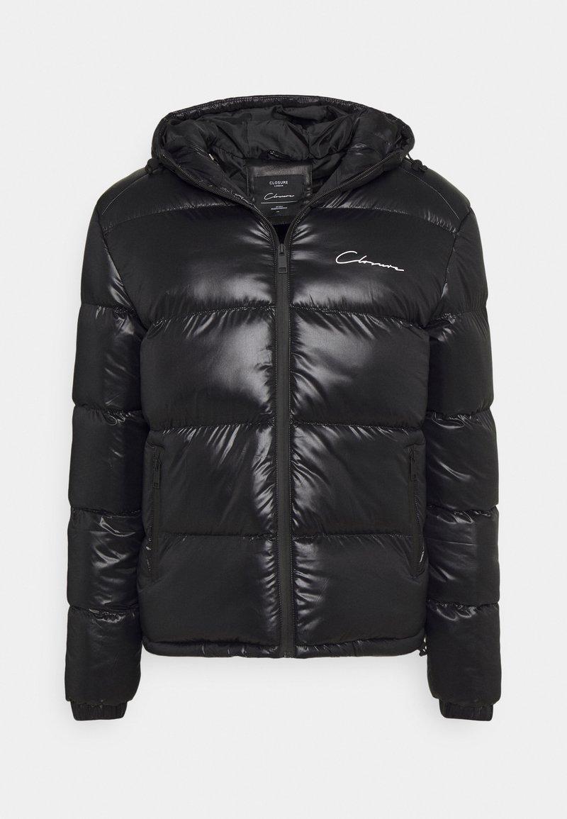 CLOSURE London - RACER LOGO PUFFER - Winter jacket - black