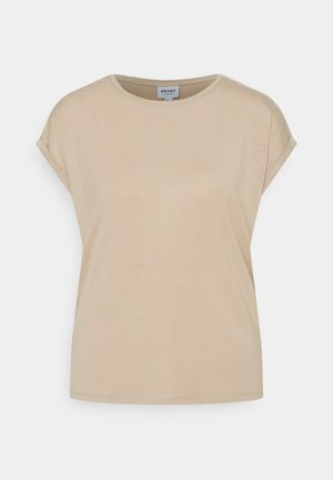 VMAVA PLAIN - Basic T-shirt - beige