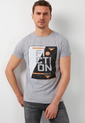 T-shirt print - grey-melange